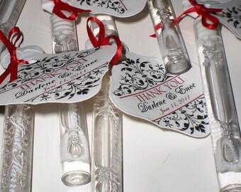 100 Wedding Bubble Tubes - Customized   Set of 100