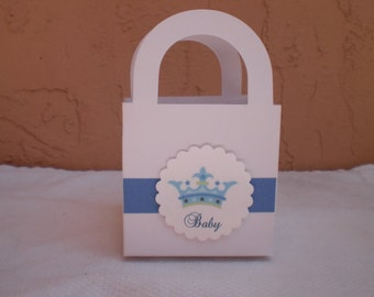 Our Little Prince Favor Tote - Perfect for Candy Buffet  - Set of 10
