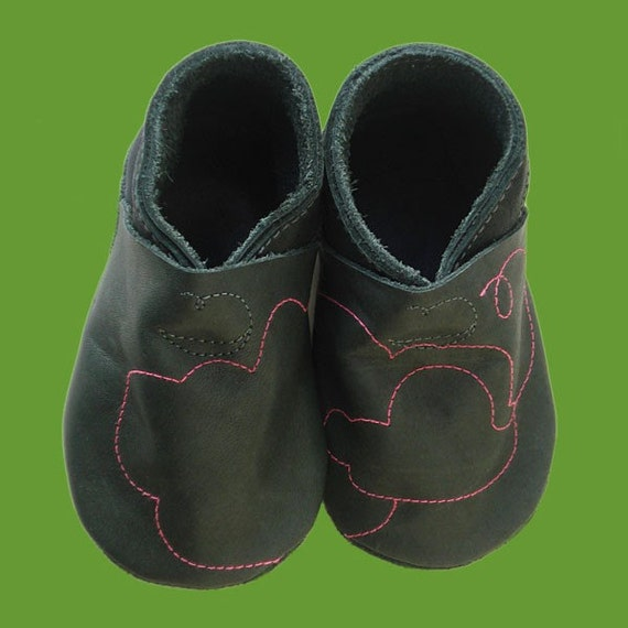 Chauchas / Natural Leather Booties for Baby & Toddler - Pink Cloud