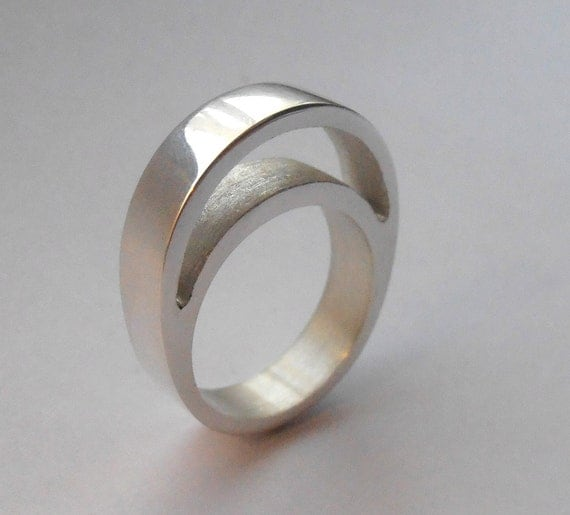 Empty Space - size 7 - sterling silver ring