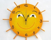 LITTLE MISS SUNSHINE Hand Painted Wall Clock
