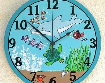 SEA WORLD Painted Wall Clock