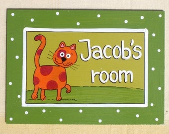 Personalized Handpainted Door Sign For Children's Room