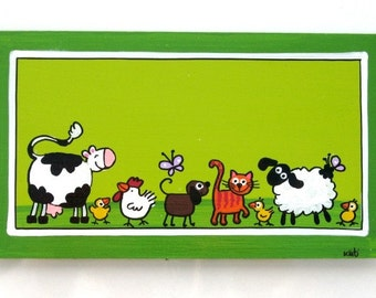 The Animals Farm Door Sign For Children's Room