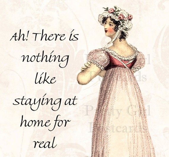 There Is Nothing Like Home Quotes: Items Similar To Jane Austen Quotes