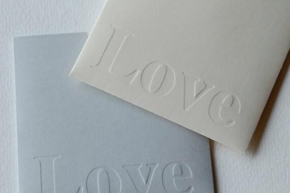 CD Sleeve DVD Envelope. Set of 20. Love debossed. Perfect for weddings.
