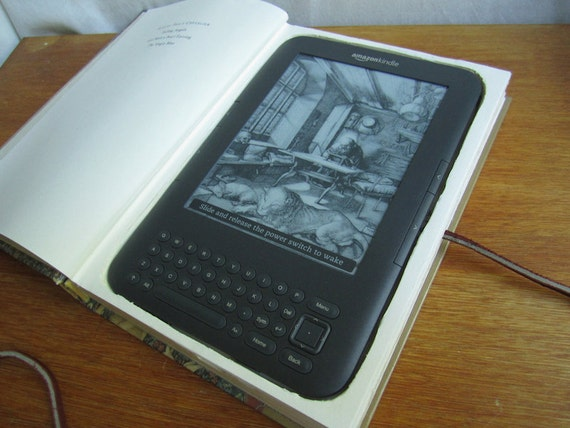 Altered Book - Kindle Case Made from a Real Book