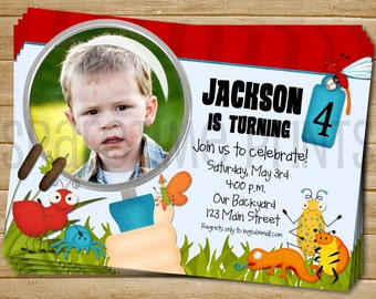 Bug Birthday Invitation Bug Birthday Invite