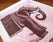 Wish Big Elephant Art Print from Cartolina - CC110