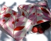 SNACKABY reusable dishwasher safe reuseable sandwich bag snack bag Pink Leaves lunch set