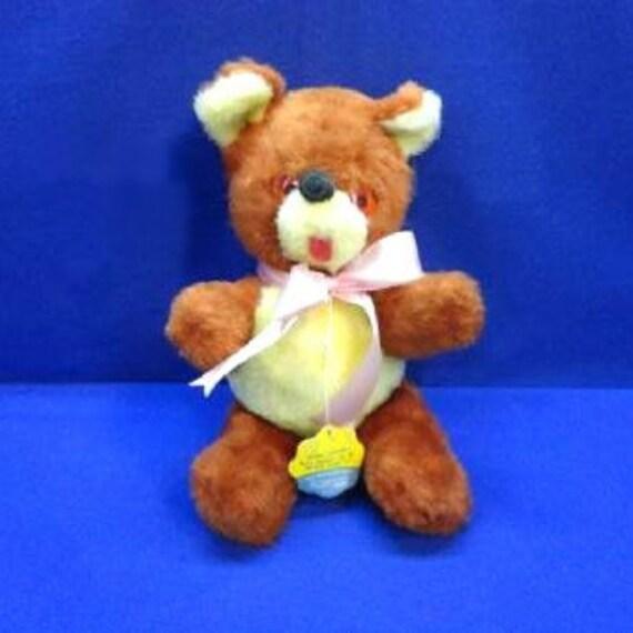 1950's Carnival Prize Teddy Bear  ORIGINAL TAG Plush Stuffed Animal Playland A & L Novelty