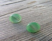 Mint Julep - Pair of Vintage Button Earrings