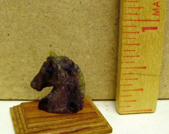 hand carved miniature soapstone horse head