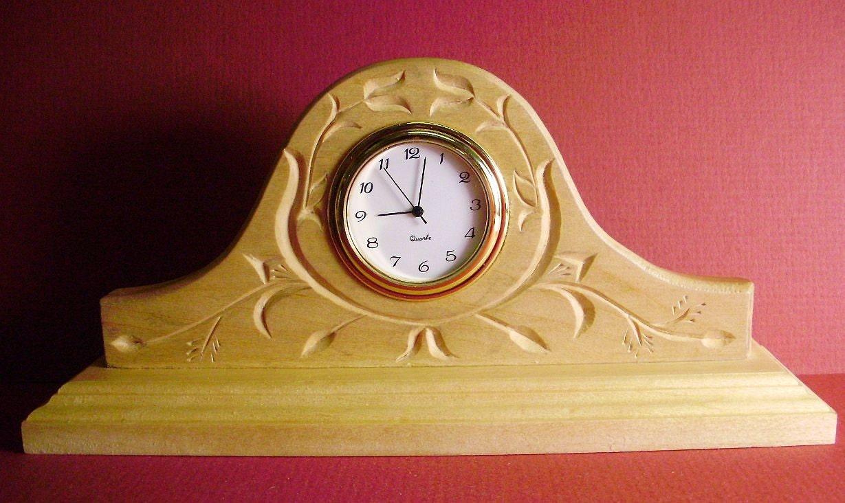 Chip carved desk clock