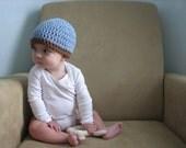 SALE mod blue brim beanie newborn