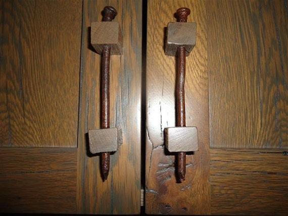 Rustic Drawer Pull Cabinet Door Handle Reclaimed Barn