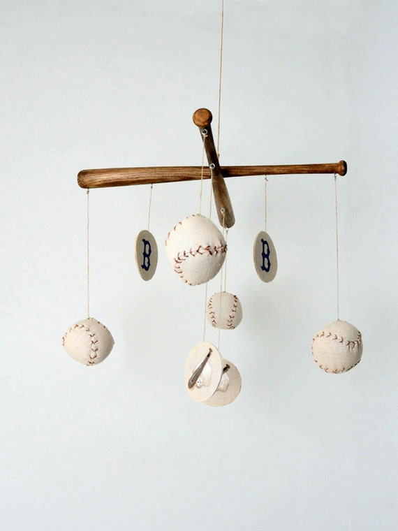Baseball Nursery Mobile - Vintage Inspired