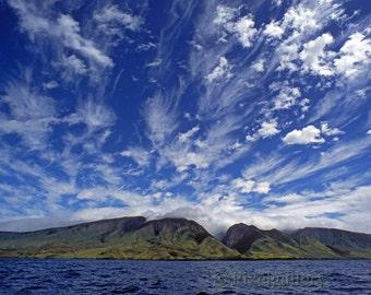 Clouds Over Maui - Lahaina, Maui 8x12 Fine Art Giclee Print