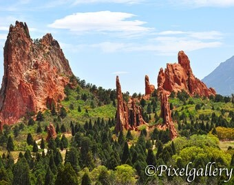 Springtime at Garden of the Gods - Colorado Springs, Colorado 8x12 Giclee Print