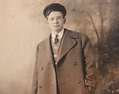 The Coat They Stole- 1911 Vintage Photograph- RPPC