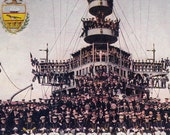 Officers and Crew of the USS Pennsylvania- 1907 Vintage Postcard