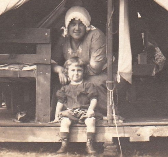 Canvas Tent Camping- 1920s Vintage Photograph