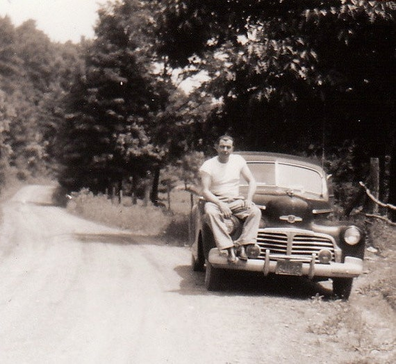 Guys on a Road Trip- New London Gun Club-  SET of 4- 1940s Vintage Photographs