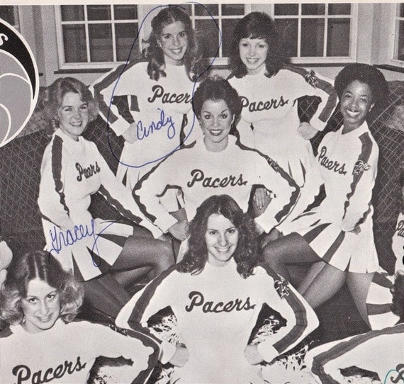 Pacers Cheerleaders- Signed- 1980s Vintage Photograph- 10 x 8