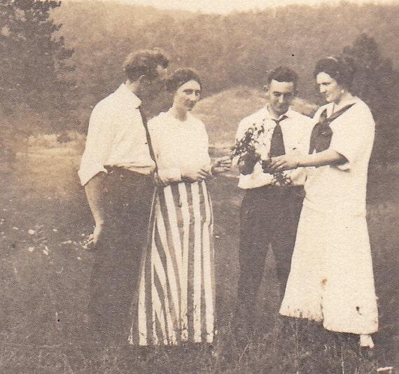 Edwardian Friendship- 1910s Vintage Photograph