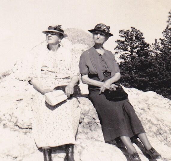 Frances & Bertie Visit Mt. Rushmore- 1939 Vintage Photograph