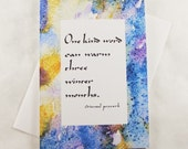 Framable One Kind Word Greeting Card