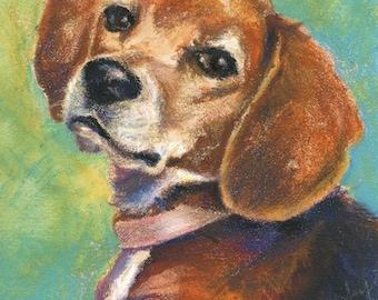 Custom Pet Portrait, Mixed Water Media, 11x14in