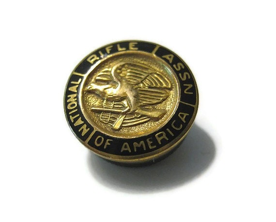 Vintage Gold Filled Nra Lapel Pin By Sharkyswaters On Etsy