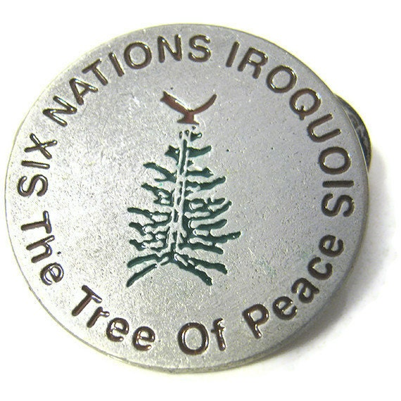Vintage Iroquois Six Nations The Tree of Peace Pin