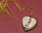 Locket Statue of Liberty Heart Vintage 1940s