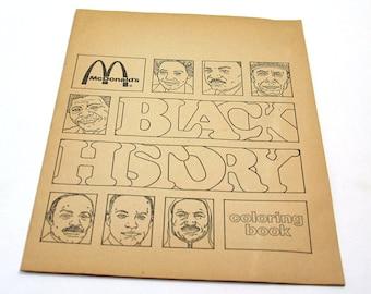 Black History McDonald's Coloring Book  1976