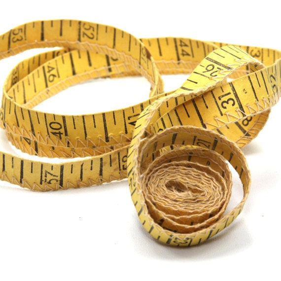 Vintage Measuring Tape Stitched 60 Inches