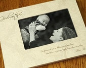 Godfather Godmother Godparents Gift Personalized Picture Frame 4x6 Keepsake w/ Choice of Paper