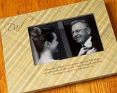 Father's Day Gift Father of the Bride Groom Gift Dad Personalized Wedding Picture Frame 4x6 Keepsake w/ Choice of Paper
