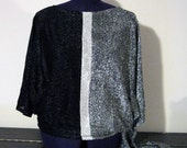Vintage 70s Jon Woods New York Sparkly Side Tie Tunic Size Large