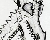 flying horned dragon