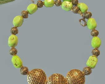 Lime Turquoise Hawaian Necklace