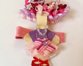 Fancy Nancy inspired Ribbon Sculpture hair clip