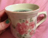 Floral Vanilla Scented Coffee Cup Candle