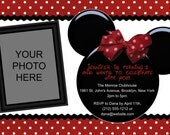 Personalizable Printable Birthday Invitation - MOUSE EARS (Minnie & Mickey)