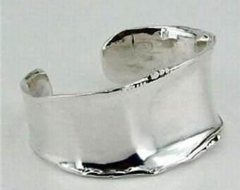Hadar  Wide Art Silver Cuff Bracelet 925 bracelet  (3192)