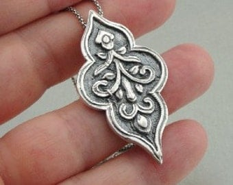 35% OFF - Unique Handcrafted Sterling Silver flower pendant (h 400) - SALE
