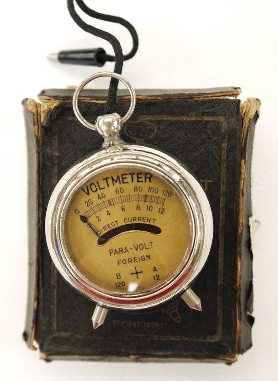 Antique Volt Meter : Antique volt meter para foreign by yonks on etsy