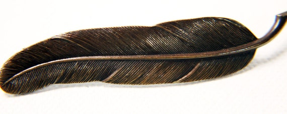 1930s Art Deco Finely Detailed Feather Brooch 7.5cm