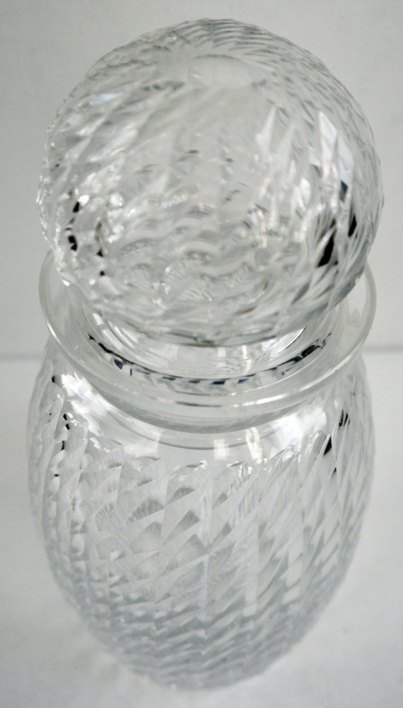 Edwardian Cut Glass Pickle Jar